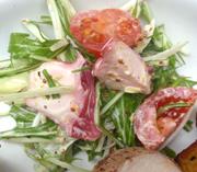 ボイルタコとしゃっきり有機水菜の粒マスタードサラダ