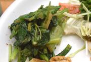 有機青菜と健康ひじきの梅和え
