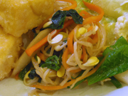 豆もやしと有機青菜の本格ナムル