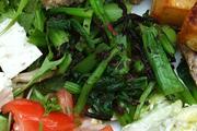 有機小松菜とひじきの赤しそ和え