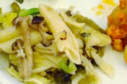 かまあげしらすと有機高菜のペペロンチーノ