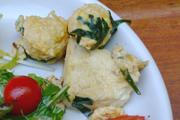 鶏団子と有機ニラと豆腐の卵とじ