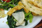 有機小松菜の辛子醤油和え