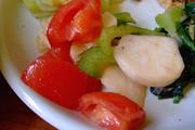 しゃっきり有機セロリと有機カブと有機トマトの三色マリネ