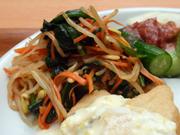 有機小松菜と豆もやしの体すっきりナムル