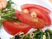 有機トマトとひよこ豆のフレンチサラダ
