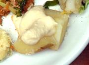 有機ジャガ芋のスチーム ひよこ豆のディップ添え