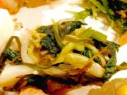 有機白菜と有機小松菜のとろろ昆布和え