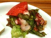 タコと有機トマトのハーブマリネ