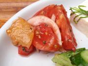 フレッシュ有機トマトのイタリアンマリネ