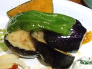 有機南瓜と有機茄子の揚げ浸し