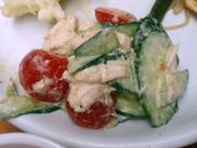 ゆうゆう鶏肉のバンバンジーサラダ