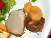 有機蒸し里芋の酢味噌添え