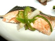 秋鮭の香草バター焼き