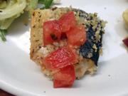 秋鯖の香草パン粉焼きフレッシュトマトソース