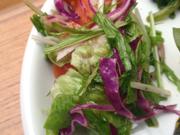 いろいろ有機リーフと有機トマトのサラダ