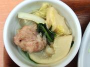 エビ団子と有機白菜の中華鍋