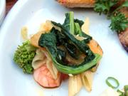小エビと有機菜の花のペペロンチーノ