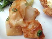 旬の有機大根の味噌チーズ田楽焼き