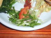 小エビと有機セロリと有機チーフのエスニックマリネ