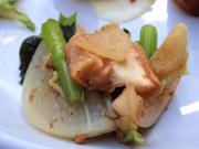 有機小松菜と焼き車麩の土佐和え