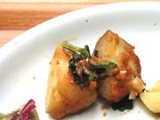 有機ジャガ芋と有機青菜の味噌バター焼き