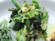 有機青菜と豆もやしの赤しそ和え
