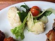 有機カリフラワーと有機水菜のマリネ