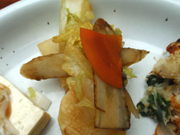 有機カブと有機白菜の柚子和え
