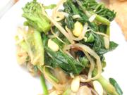有機菜の花と豆もやしとニラのナムル