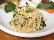 豆もやしと有機菜の花の塩ナムル