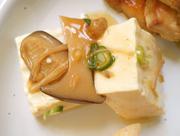 島田さんの蒸し豆腐 生姜きのこあんかけ