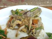 白魚とセリの卵とじ 山椒風味