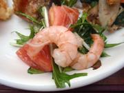 小エビと春雨と有機水菜のエスニックサラダ