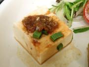 島田さん豆腐の香味ソース添え