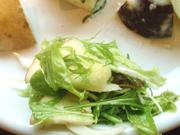 有機水菜とリンゴのフレンチサラダ