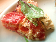 真っ赤な有機トマトと豆腐のイタリアンマリネ