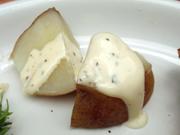 有機新ジャガ芋のスチームバジルマヨネーズ
