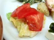 真っ赤な有機トマトと有機春キャベツのマリネ