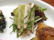 ぱりぱり有機大根と有機水菜の梅ドレッシングサラダ