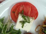 豆腐と有機トマトのカプレーゼ風