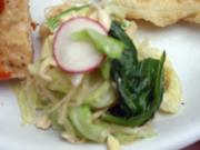 有機キャベツと有機小松菜の粒マスタード添え