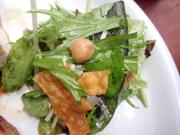 ほくほくひよこ豆と有機リーフレタス 甘夏のドレッシング