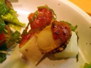 姫ホタテとみちのく長芋の梅しそ焼き