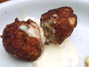 おから入り鶏団子のバジルマヨネーズ