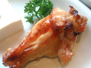 ゆうゆう鶏手羽先のスタミナ照り焼き
