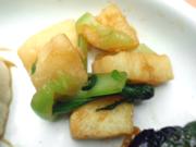みちのく長芋と有機チンゲン菜のわさび醤油和え