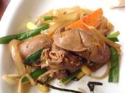 ゆうゆう鶏のスタミナレバニラ炒め