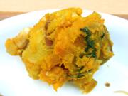 有機さつま芋と有機南瓜のピーナッツ添え