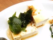 島田さん豆腐の冷奴 香味ソースがけ